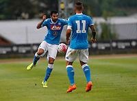 Raul Albiol  durante l'amichevole precampionate tra Napoli e Cittadella   Dimaro 29 Luglio 2015<br /> <br /> Friendly soccer match between   SSC Napoli  in Dimaro Italy July 28, 2015