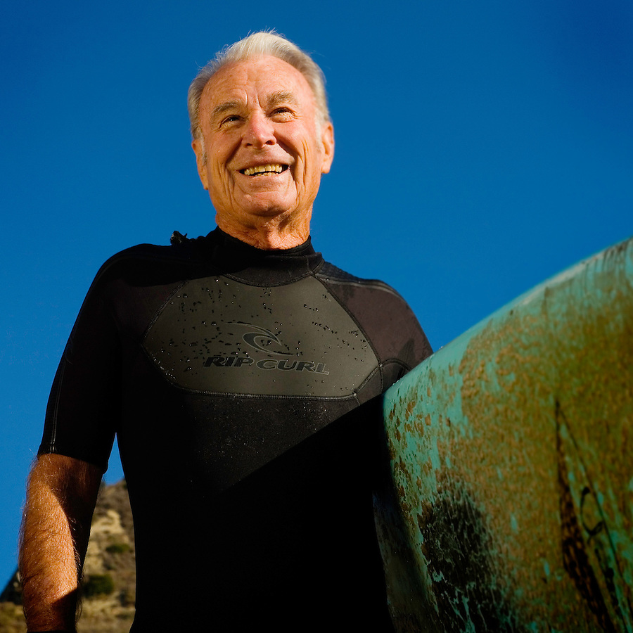 Daryl Peveto &copy; 2006<br /> <br /> Considered the oldest surfer in Ventura County, Jack Cantrell, 78, at Mondo's Point, Ventura, Calif., Thursday, Dec. 7, 2006. Cantrell says he learned to surf at Mondo's Point towards the end of summer in 1953. When asked why the end of summer, he replied, &quot;It took me the whole summer to build the surfboard. He soon created a surf club comprised of several of his closest friends. Cantrell even says that he built his house near Mondo's just because he likes the way the waves break there. &quot;The young kids won't surf here because of the way the waves break, but for me and my long board, they are just perfect.&quot;