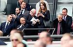 West Ham's David Sullivan walks past Tottenham's Daniel Levy during the premier league match at the London Stadium, London. Picture date 23rd September 2017. Picture credit should read: David Klein/Sportimage