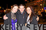 Pictured at Scruffys bar Killarney on New Year's Eve were l-r: Megan Walsh, David Hoare and Fiona Corcoran.