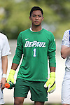 28 August 2015: DePaul's Quentin Low. The Elon University Phoenix played the DePaul University Blue Demons at Koskinen Stadium in Durham, NC in a 2015 NCAA Division I Men's Soccer match. Elon won the game 4-0.