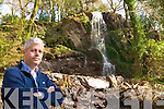 WATERFALL: Billy Alexander of Kells Bay Gardens who has added a stunning new waterfall to his gardens, which will open to the public on Saturday.
