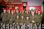 RETIRMENT: BSM Joe Wall seated centre who retired from the 32nd RDF Ballymullen Barracks Tralee on Friday night were many of his collegues attended the function in the Imperial Hotel, Tralee.......................