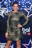 Kelly Brook<br /> arriving for the Global Awards 2019 at the Hammersmith Apollo, London<br /> <br /> ©Ash Knotek  D3486  07/03/2019