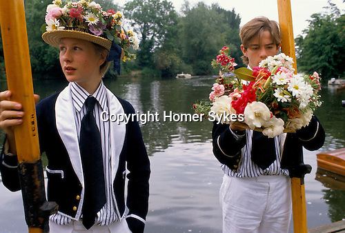 FOUNDERS DAY AT ETON COLLEGE ALSO PARENTS DAY, BOYS WEARING UNIFORM FOR PARADE OF BOATS.