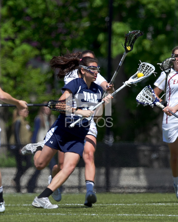 Yale University attacker Jen DeVito (33). Boston College defeated Yale University, 16-5, at Newton Campus Field, April 28, 2012.
