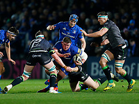4th January 2020; RDS Arena, Dublin, Leinster, Ireland; Guinness Pro 14 Rugby, Leinster versus Connacht; Tadhg Furlong of Leinster taks the ball into contact with Gavin Thornbury of Connacht - Editorial Use