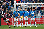 Kyle Lafferty scores for Hearts