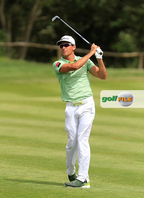 Rafa Cabrera-Bello (ESP) on the 9th during Round 1 of the Open de Espana  in Club de Golf el Prat, Barcelona on Thursday 14th May 2015.<br /> Picture:  Thos Caffrey / www.golffile.ie