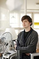 Portrait von Mario von Rickenbach. Game designer in seinem Atelier an der Zwinglistrasse 21 in Zuerich am Freitag 14.09.12 <br /> <br /> Copyright © Zvonimir Pisonic