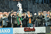 Barnet fans at full time with the FA cup during Barnet vs Stockport County, Emirates FA Cup Football at the Hive Stadium on 2nd December 2018