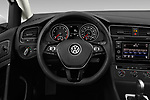 Car pictures of steering wheel view of a 2019 Volkswagen Golf SportWagen S 5 Door Wagon