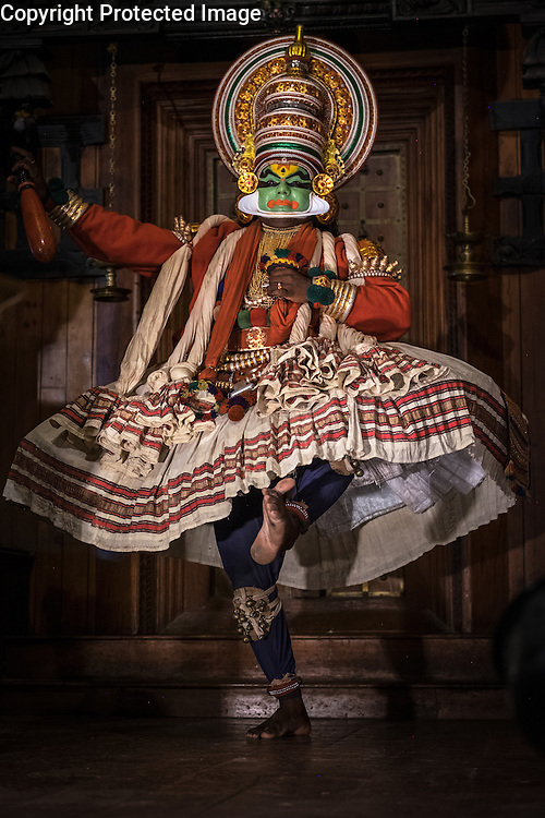 A traditional Kathakali dance performance, Fort Cochin, Kerala, India