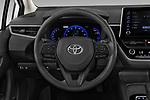 Car pictures of steering wheel view of a 2020 Toyota Corolla-Hybrid LE 4 Door Sedan Steering Wheel