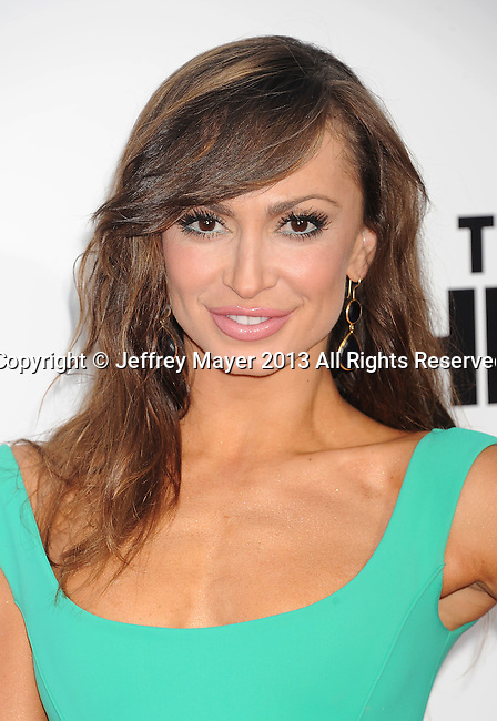 WESTWOOD, CA- JUNE 03: Dancer/Actress Karina Smirnoff  arrives at the 'This Is The End' - Los Angeles Premiere at Regency Village Theatre on June 3, 2013 in Westwood, California.