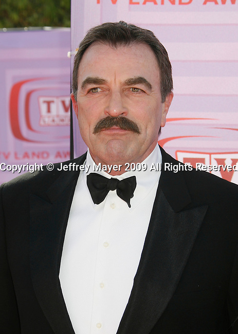 UNIVERSAL CITY, CA. - April 19: Tom Selleck arrives at the 2009 TV Land Awards at the Gibson Amphitheatre on April 19, 2009 in Universal City, California.