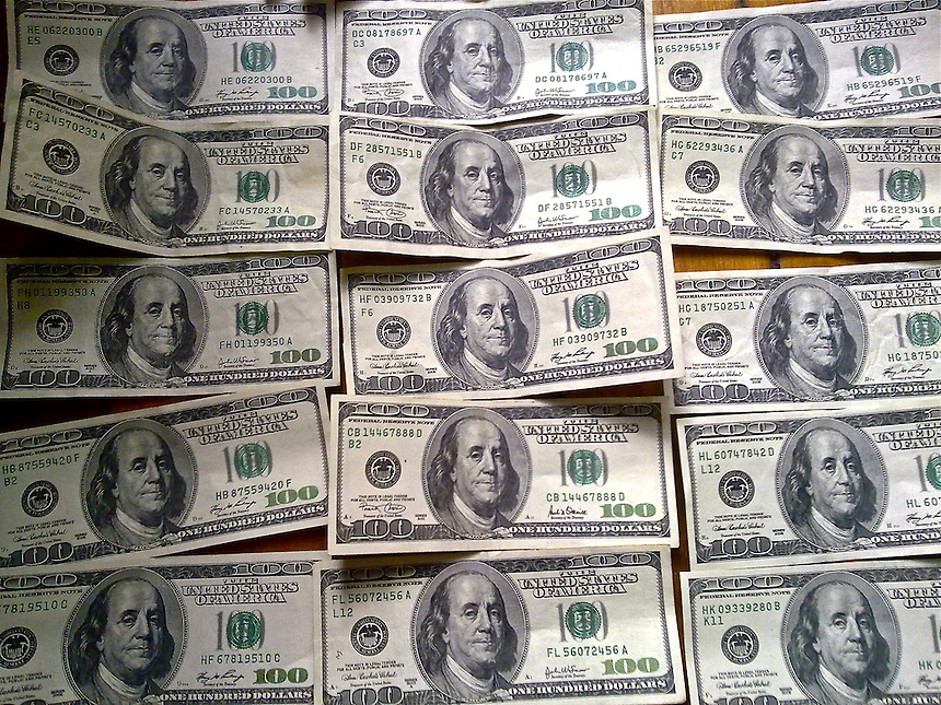 Cash,  money, benjamins, c-notes $100's, loot, dollars, bucks, dead president's , moolah, dinero, duckets, laveh, varenie, root of all evil, new religion, etc.<br /> The United States one hundred-dollar bill ($100) is a denomination of United States currency.