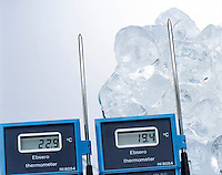 ENDOTHERMIC PROCESS: ICE &amp; SURROUNDING AIR<br />