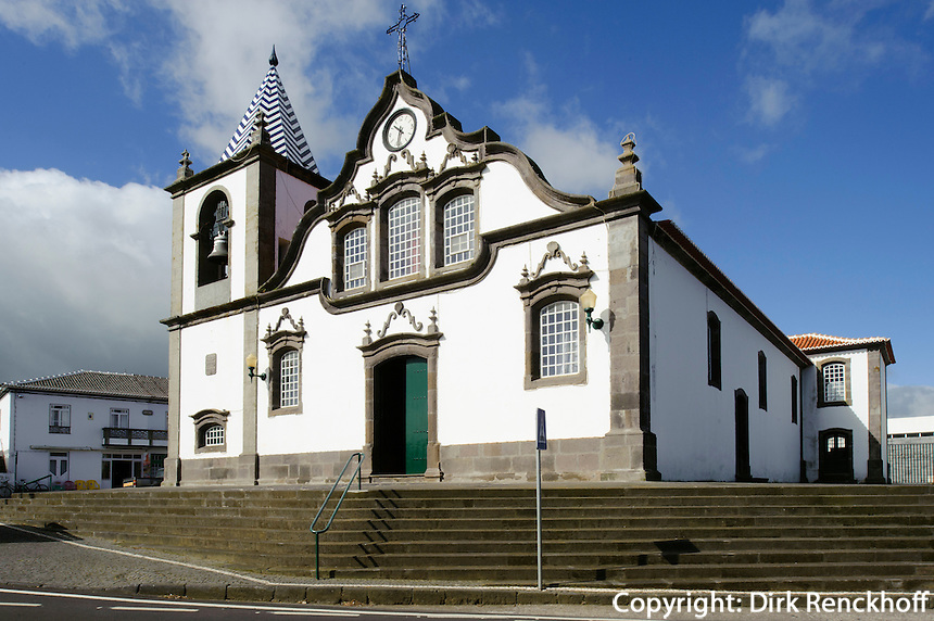 Pfarrkirche in Lajes auf der Insel Terceira, Azoren, Portugal