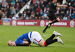 Steven Naismith goes down for a penalty kick