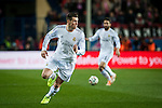 Vicente Calderon. Madrid. Spain. 11.02.2014. Football match between Atletico de Madrid and Real Madrid. Carvajal. Gareth Bale