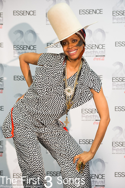 Erykah Badu at the 2014 Essence Festival at the Mercedes-Benz Superdome in New Orleans, Louisiana.