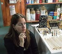 Selling jewelry and toiletries, Guanabacoa, La Habana