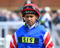 Jockey Royston French during Horse Racing at Salisbury Racecourse on 15th August 2019