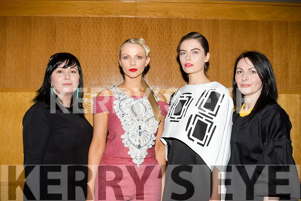 Glamour<br /> ------------<br /> L-R Rebekah Wall, Maeve Carey, Sandra Dillon and Anne Cantillon-Linnane who modelled at  the Rags to Runway Charity fashion show last Saturday night in the Ballyroe heights hotel, Tralee last Saturday night.