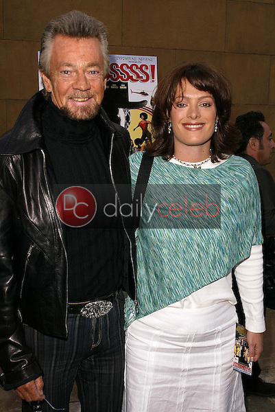 Stephen J. Cannell and daughter Tawnia