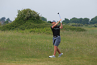 Keith Egan (Carton House) on the 2nd during Round 4 of the East of Ireland Amateur Open Championship sponsored by City North Hotel at Co. Louth Golf club in Baltray on Monday 6th June 2016.<br /> Photo by: Golffile   Thos Caffrey