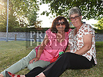 Angela Bellew and Regina Duffy at the Under the Tree concert on the green at Duleek. Photo:Colin Bell/pressphotos.ie