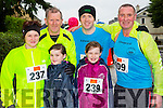 St Brendan's AC runners who ran in the Beaufort 10k on New Years day l-r: Kirsty, Lilly and Daisy Nowak, Paudie Dineen, David Butler and Pat Sheehy