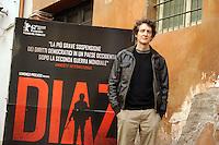 """Roma, 6 Aprile 2012.Photocall del film """"Diaz"""" .L'attore Pietro Ragusa."""