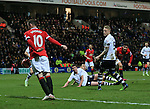 Manchester United's Ander Herrera scoring his sides opening goal<br /> <br /> FA Cup - Preston North End vs Manchester United  - Deepdale - England - 16th February 2015 - Picture David Klein/Sportimage