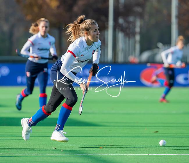 AMSTELVEEN - Xan de Waard (SCHC) tijdens de competitie hoofdklasse hockeywedstrijd dames, Pinoke-SCHC (1-8) . COPYRIGHT KOEN SUYK
