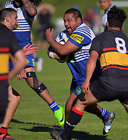 Action from the Swindale Shield Wellington premier club rugby match between Northern United and Paremata-Plimmerton at Jerry Collins Stadium / Porirua Park in Wellington, New Zealand on Tuesday, 25 April 2017. Photo: Dave Lintott / lintottphoto.co.nz