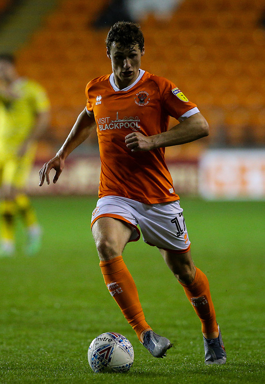 Blackpool's Matty Virtue<br /> <br /> Photographer Alex Dodd/CameraSport<br /> <br /> EFL Leasing.com Trophy - Northern Section - Group G - Blackpool v Morecambe - Tuesday 3rd September 2019 - Bloomfield Road - Blackpool<br />  <br /> World Copyright © 2018 CameraSport. All rights reserved. 43 Linden Ave. Countesthorpe. Leicester. England. LE8 5PG - Tel: +44 (0) 116 277 4147 - admin@camerasport.com - www.camerasport.com