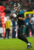09.11.2014.  London, England.  NFL International Series. Jacksonville Jaguars versus Dallas Cowboys. Jacksonville Jaguars' Quarterback Blake Bortles (#5)
