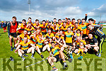 Austin Stacks players celebrate after winning the Kerry Club Championship Final on Sunday.