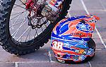 Crash Helmet - Rally dirt bike and crash helmet, Australasian Safari Rally 2008, Perth, Western Australia