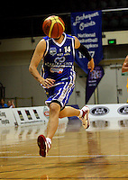 Leon Henry chases Troy McLean's pass during the NBL Basketball match between Wellington Saints and Otago Nuggets at TSB Bank Arena, Wellington, New Zealand on Sunday, 30 March 2008. Photo: Dave Lintott / lintottphoto.co.nz
