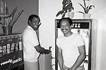 Robert Guillaume and Sherman Hemsley rehearsing the TV Movie 'Purlie' on January 10, 1981 at a New York Rehearsal Studio in New York City.