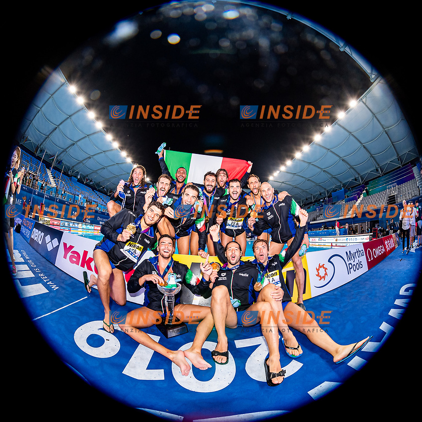 ITA - Italy Gold Medal<br /> Gwangju South Korea 27/07/2019<br /> Waterpolo Spain v. Italy ESP - ITA Gold Final<br /> 18th FINA World Aquatics Championships<br /> Nambu University Grounds <br /> Photo © Giorgio Scala/ Deepbluemedia / Insidefoto