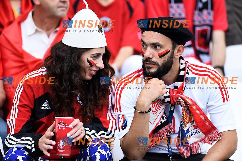 Tifosi Albania Supporters <br /> Marseille 15-06-2016 Stade du Velodrome <br /> Football Euro2016 France - Albania / Francia - Albania Group Stage Group A<br /> Foto Massimo Insabato / Insidefoto