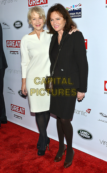 28 February 2014 - Los Angeles, California - Helen Mirren and Jacqueline Bisset. GREAT British Film Reception to honor the British Oscar nominees, hosted by Consul General Chris O'Connor at the British Residence. <br /> CAP/ADM/CC<br /> &copy;CC/AdMedia/Capital Pictures