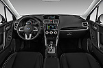 Stock photo of straight dashboard view of 2018 Subaru Forester 2.5i-Limited-CVT 5 Door SUV Dashboard