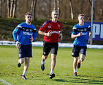 8.3.2018: Rangers training:<br /> Physio Stevie Walker with Jordan Rossiter and Ross McCrorie