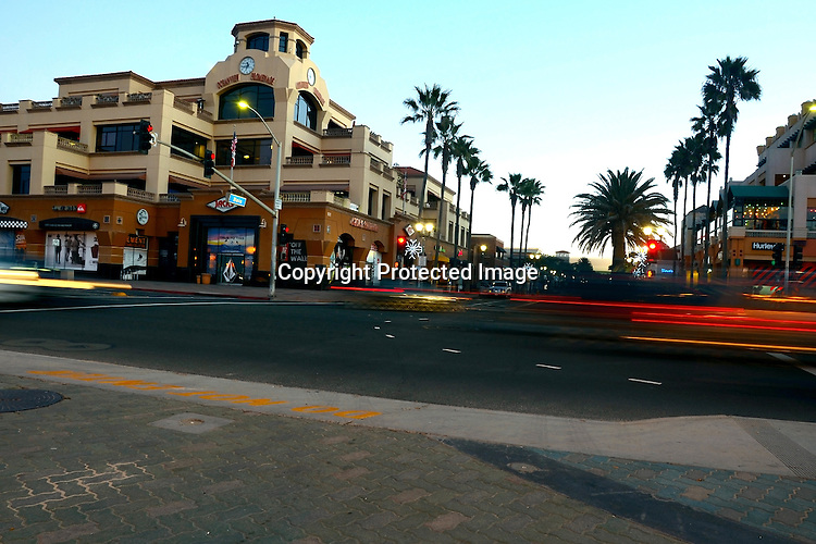 Early morning stock photo of Huntington Beach California