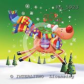 Interlitho, Simonetta, CHRISTMAS ANIMALS, paintings, reindeer, shawl, KL5923,#xa# Weihnachten, Navidad, illustrations, pinturas